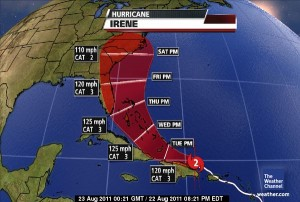 Tropical Storm Irene Map - 2